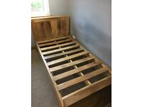 Solid mango constructed single bed