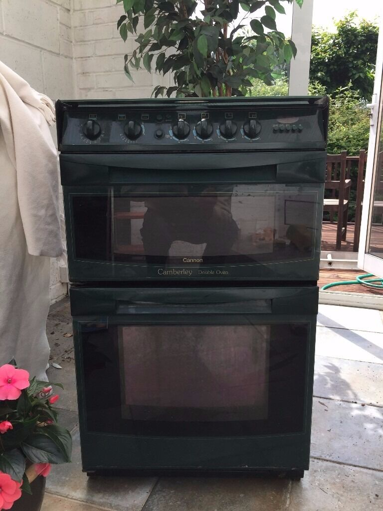 Cannon Camberley Cooker In Green Gas Hob Double Oven