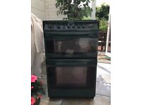 CANNON CAMBERLEY COOKER IN GREEN, GAS HOB, DOUBLE OVEN ELECTRIC, AUTOMATIC COOKING 540MM WIDE