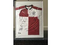Signed and Framed Rangers Jersey ( New )