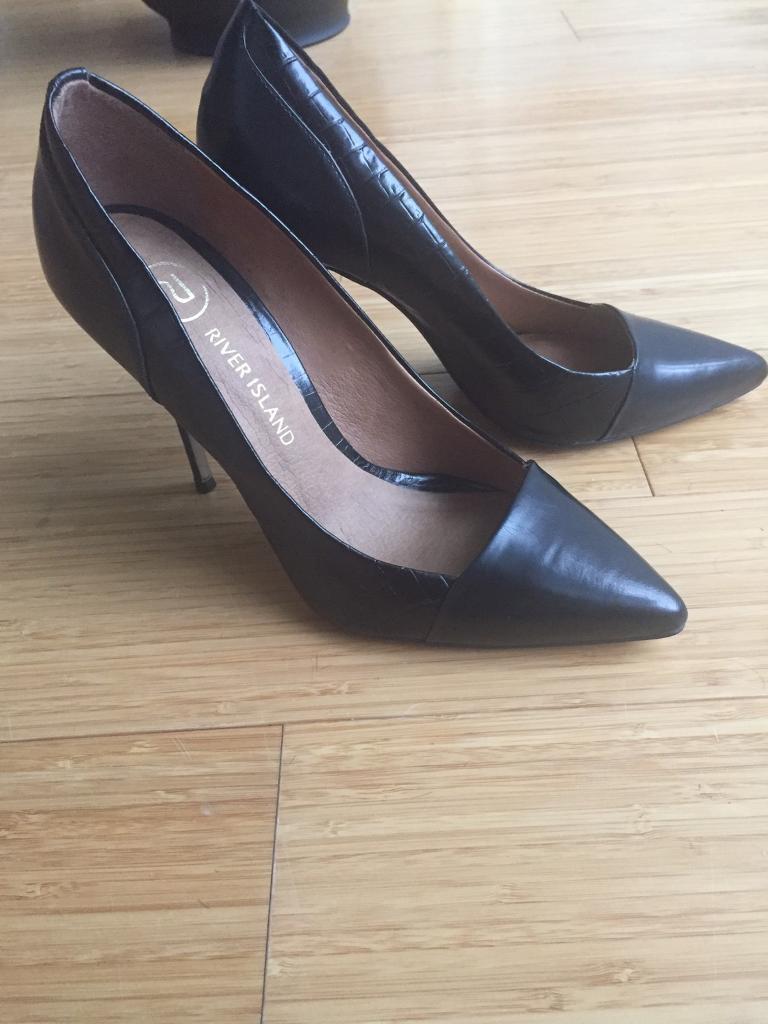 River Island Black Heels