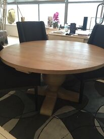 Round wooden dining table - great price!!