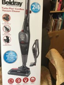 BELDRAY TURBO PLUS CORDLESS VACUUM CLEANER MODEL 0502.