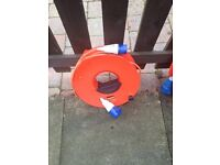 64 ft Caravan extension lead inside cable reel for electric hook up