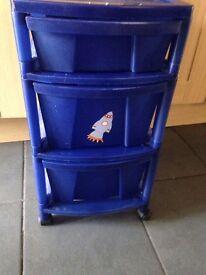 Blue drawers x2