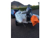 Zodiac 420xl rib boat for sale 50 hp engine seats six people