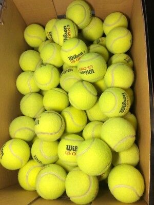 50 Used Tennis Balls mixed brands dog toys, chairs, etc.
