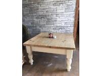 Upcycled farmhouse Solid pine coffee table