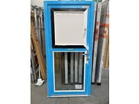 Residential door with a tilt and turn built into the top.