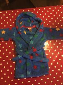 John Lewis boys dressing gown 18-24 mths