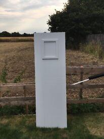 White PVC stable style door panel