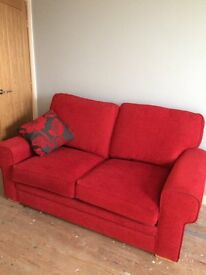 Bright Red 2 seater Sofa Bed