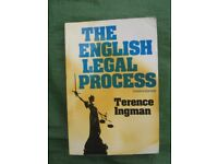 The English Legal Process Fourth Edition by Terence Ingman for £2.00