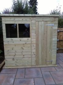NEW 6 x 4 PENT GARDEN SHED 'BEXLEY' £320 - INCLUDES FREE DEL & INSTALLATION