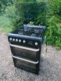 Hotpoint ultima Hug 61 Double Gas oven and cooker