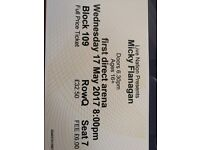 x2 Micky Flanagan Tickets for Leeds Arena. Wednesday 17 May. Block 109.