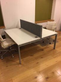 office desk workstation white 2 positions