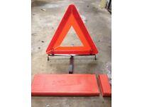 Car breakdown triangle sign