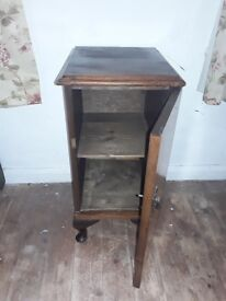 Vintage Walnut Veneer Bedside Cabinet