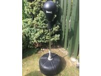 Lonsdale free standing punch bag trainer. Good condition. Water filled base for stability.