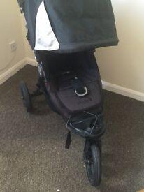 City elite buggy, 3 big wheels, off roader for jog, no smoke, no pet home