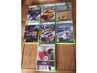 seven xbox 360 games for sale