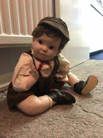 Handmade boy porcelain doll