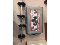 York cast iron dumbbell set (20kg)