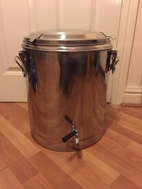 Bergland Stainless Thermo Pot with Lid and Tap 25 Litre Home Brew Mash Tun
