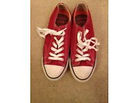 Mens red Superdry canvas shoes