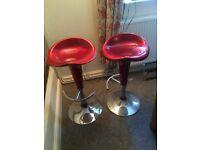 Red swivel stools