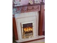 BRAND NEW GAS FIRE, coal effect, inset to chimney. Still boxed.