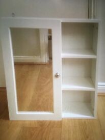 Bathroom cabinet- white and mirrored