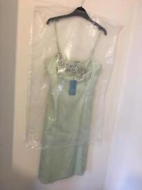 Karen Millen Mint Green Embellished Dress Size 12