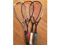 4 x decent squash rackets. WILSON, Dunlop, Prince & karakal