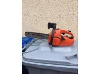 Petrol chainsaw top handle saw
