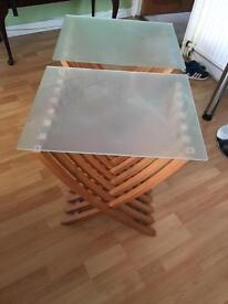 2-glass top table