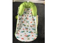 Summer baby bath seat with toy bar