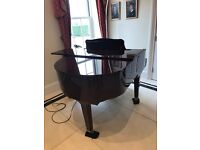 Baby grand piano, perfect condition but is used. High shine on wood .