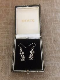 Pair of Stirling Silver Retro Earrings