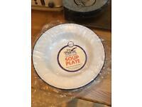 Falcon enamel soup bowls x 5 brand new...