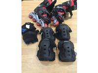 Boys adjustable roller skates