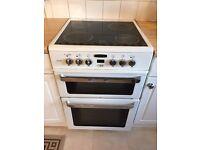 Freestanding, White, Double Oven, Electric Cooker, 4 x Ceramic Hob, Model Leisure AL6CDW