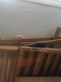 Wooden short bunkbeds