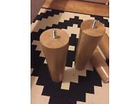 Oak furniture Legs x4 at 20cm H