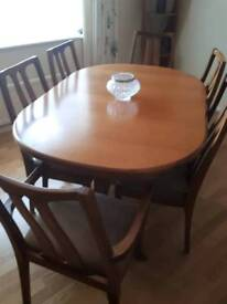 Nathan dinning table with 6 chairs