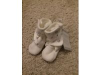 New with Tags! Baby Booties Size 0-3 Months - WILL POST FOR £2