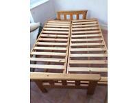 Pine sofa bed, no mattress