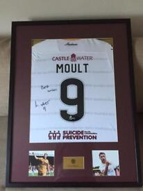 Framed and Signed Louis Moult Top - Match Worn Motherwell Football Club