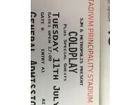 Standing Coldplay tickets July 11th